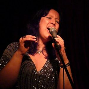 Anne-Lise performing at Bar Me (El Rocco) in Kings Cross with New Yorkan Melinda Faylor on baby grand piano Dec 2009.