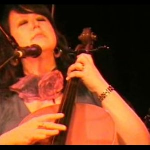 Anne-Lise doing her second solo cello gig at The Basement, Sydney, 2008