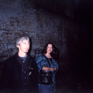 Andy Manessis and Anne-Lise Larsen after last residency gig at Kellys On King in 2003.